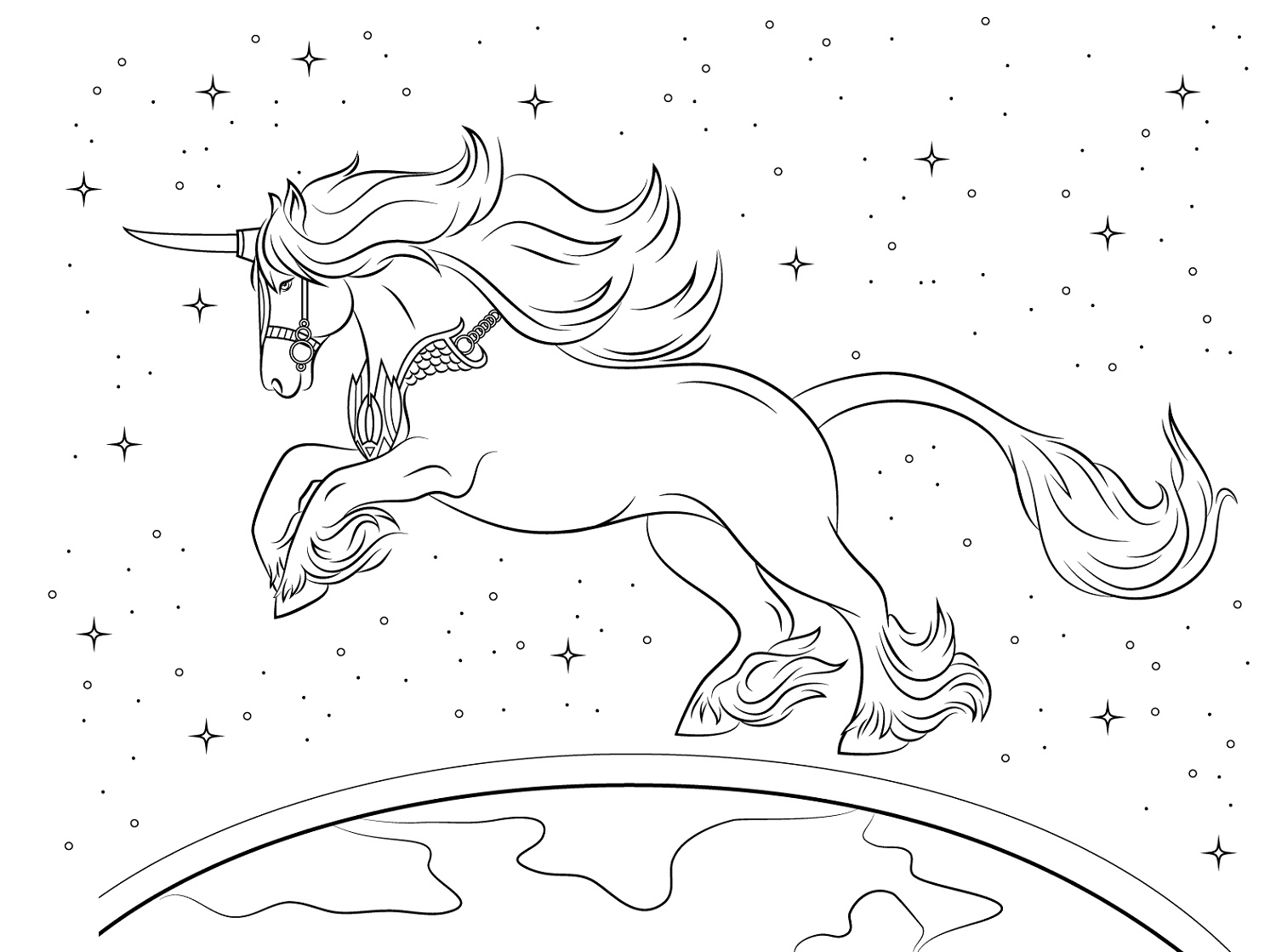 Unicorn Coloring Book To Print