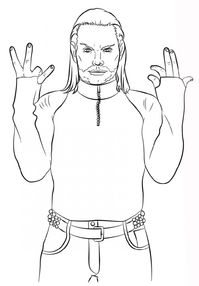 WWE Coloring Pages Jeff Hardy