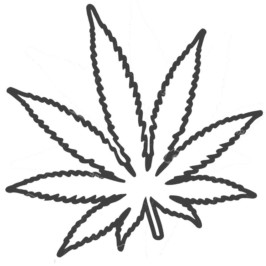 Weed Coloring Pages Marijuana Leaf