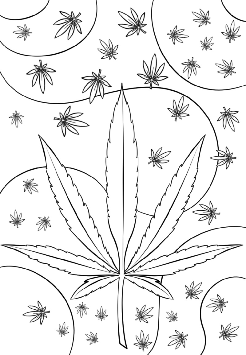Weed Coloring Pages Psychedelic