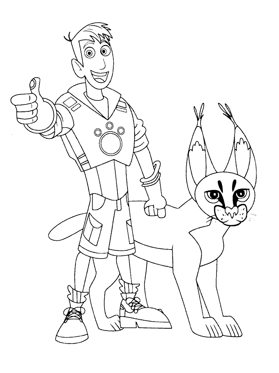 Wild Kratts Coloring Pages Martin