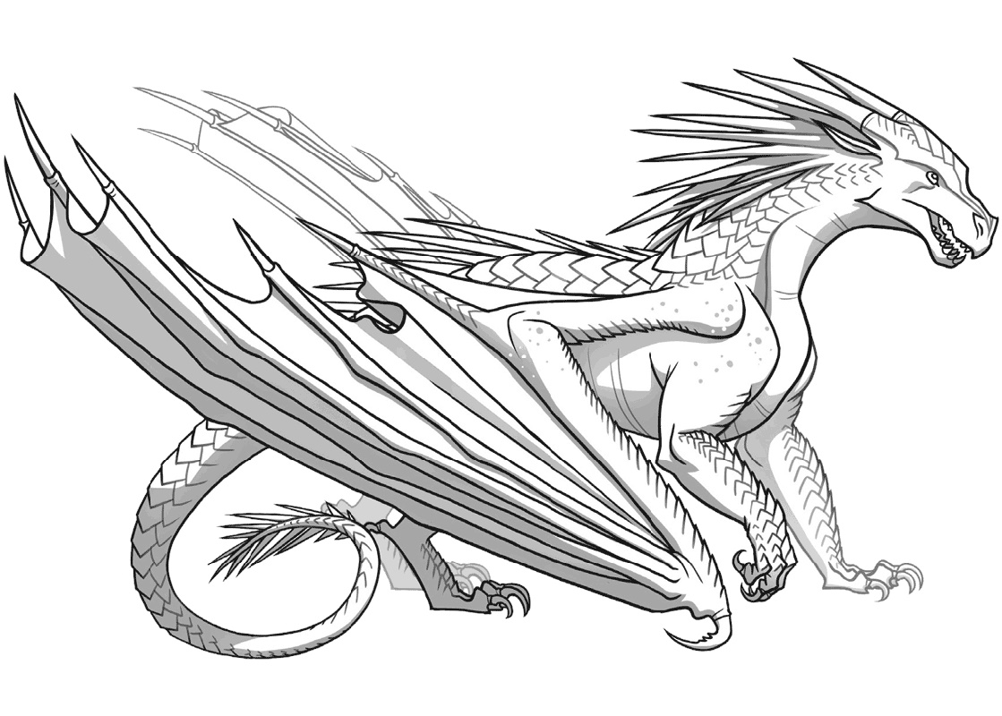Wings Of Fire Coloring Pages IceWing