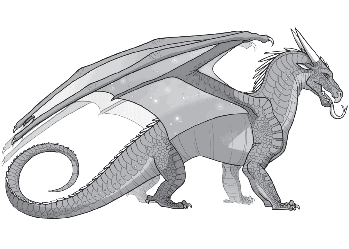 Wings Of Fire Coloring Pages NightWing