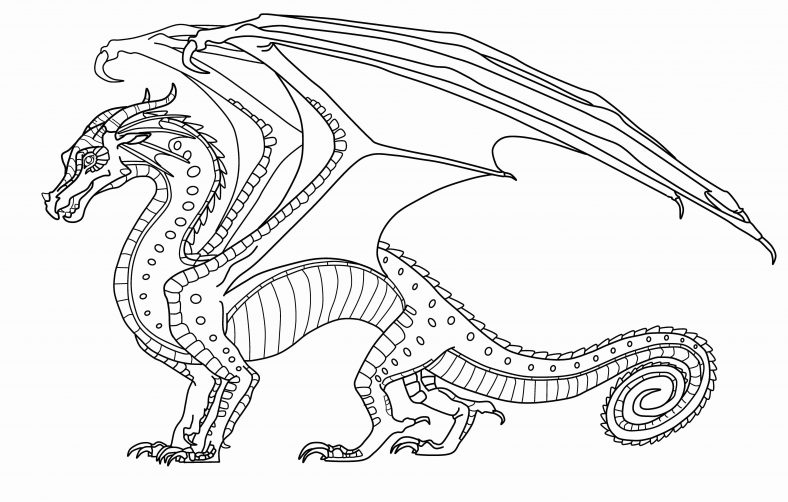 Wings Of Fire Coloring Pages RainWing