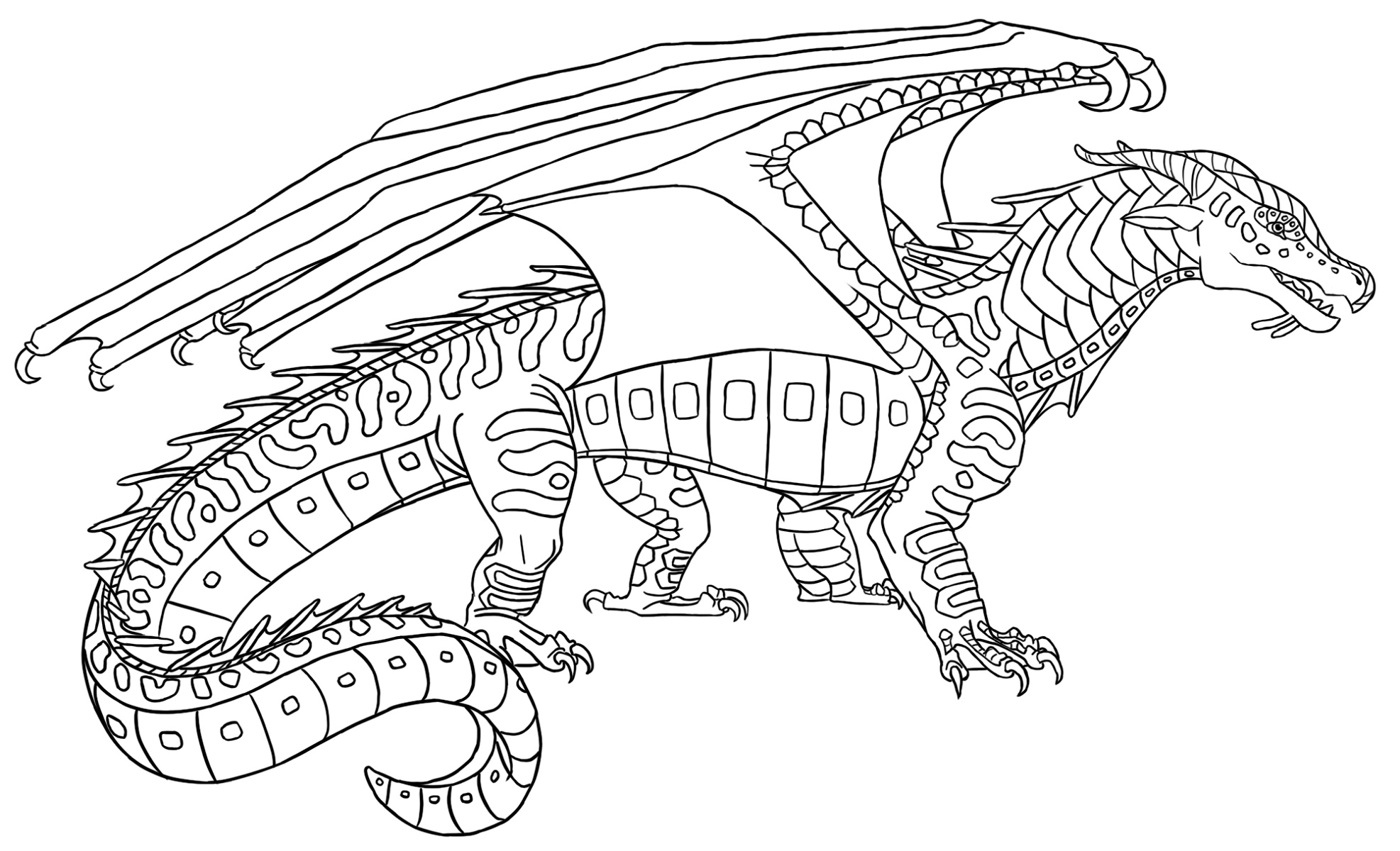 Wings Of Fire Coloring Pages Ice Wing | K5 Worksheets