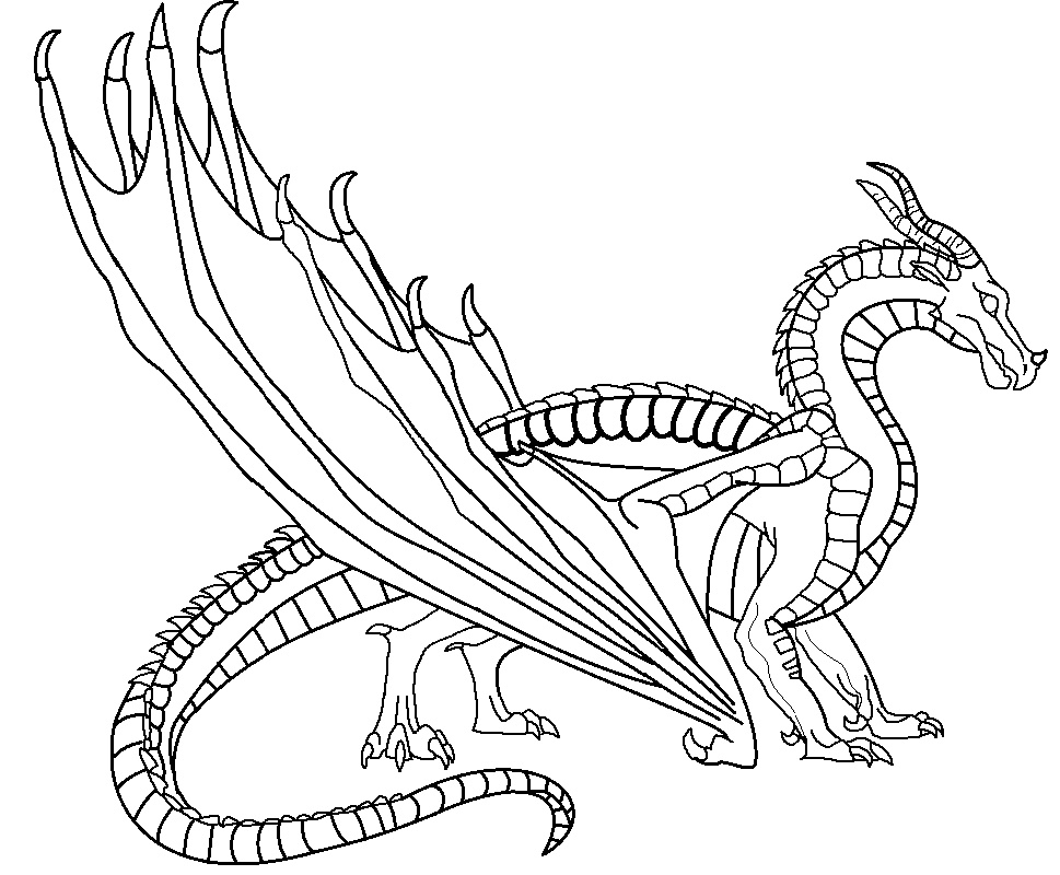 Wings Of Fire Coloring Pages SkyWing