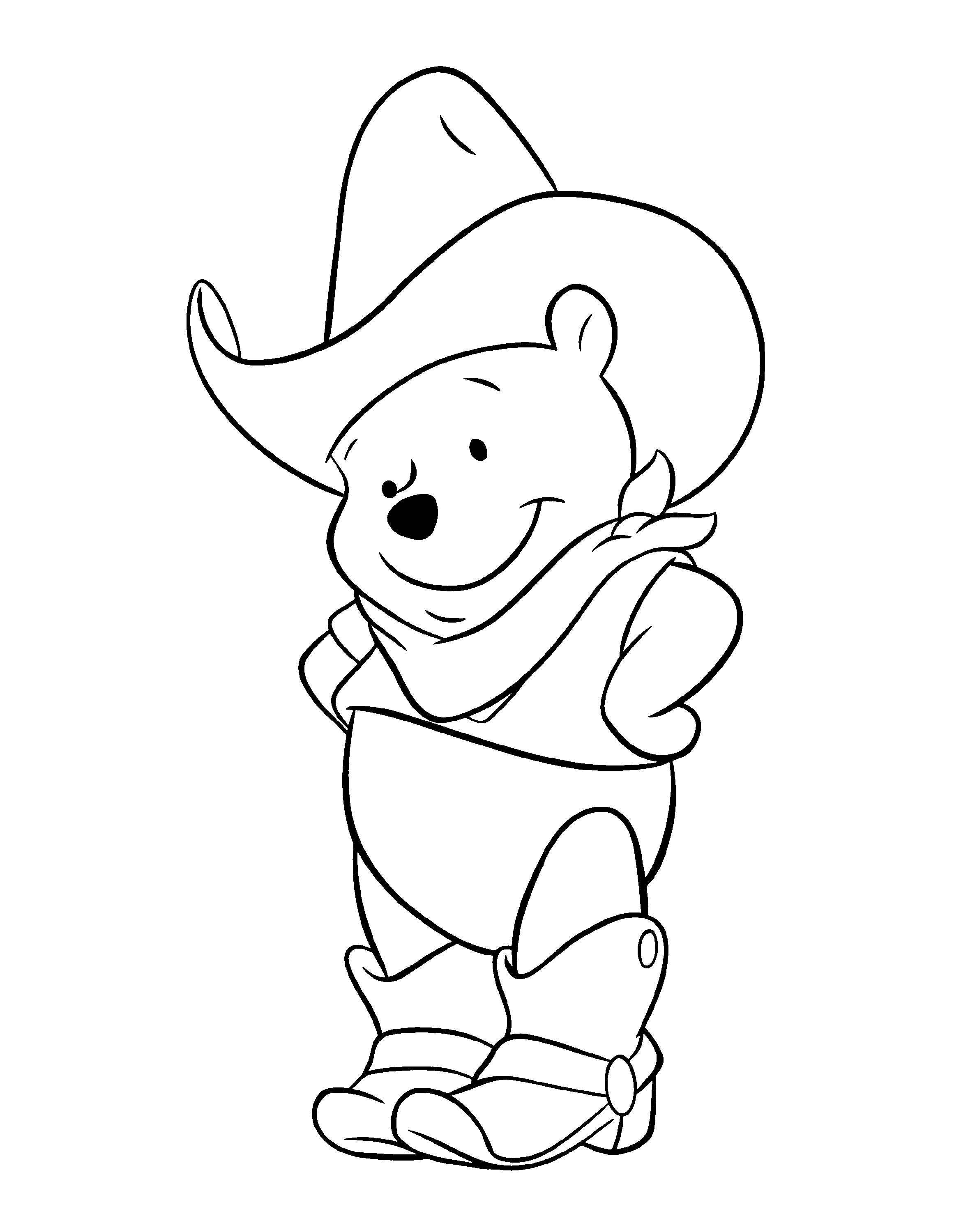 Winnie The Pooh Coloring Pages Cartoon