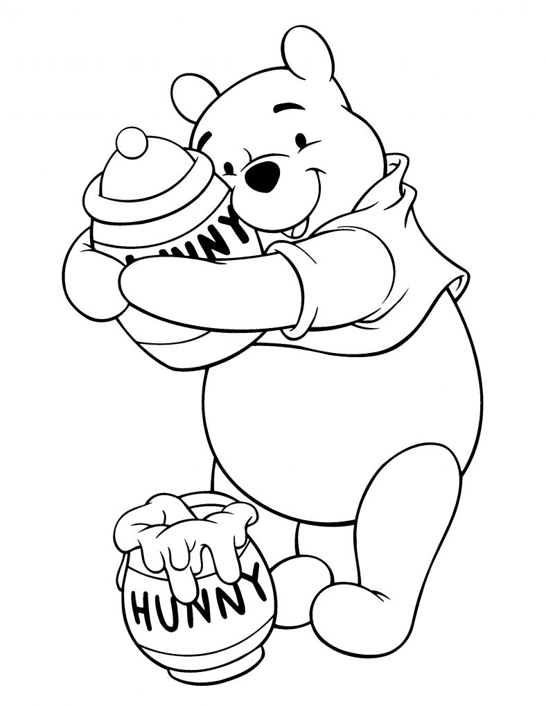 Winnie The Pooh Coloring Pages Honey
