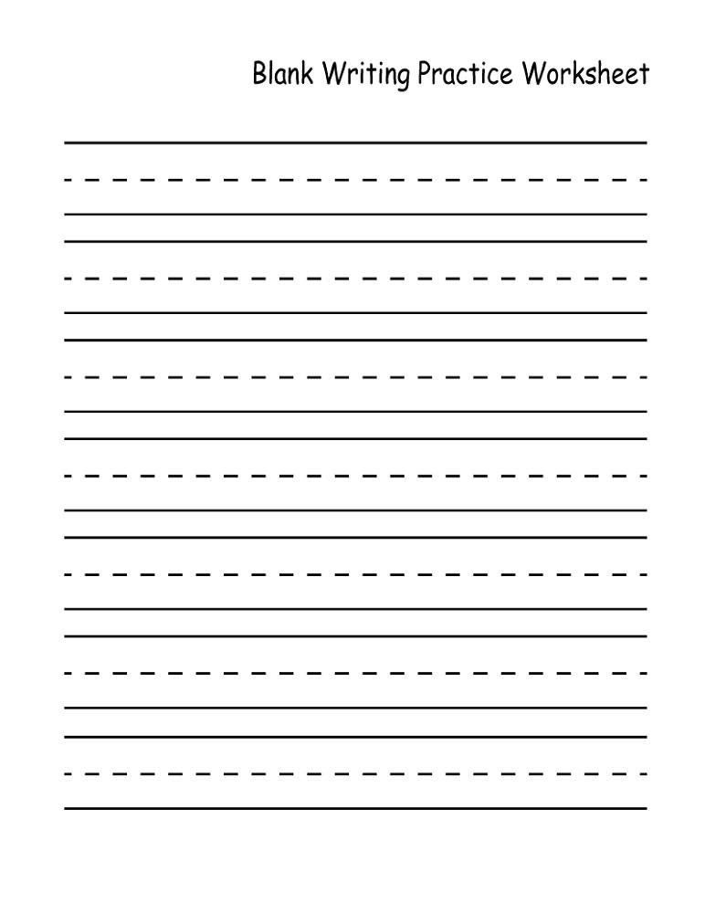 Writing Worksheets Kindergarten