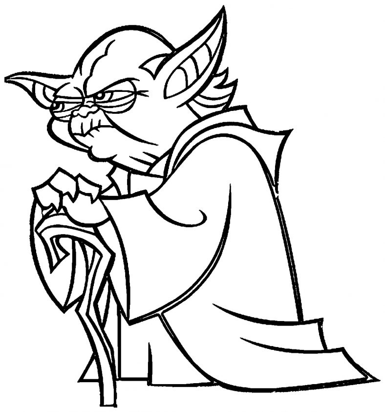 Yoda Coloring Pages Cartoon