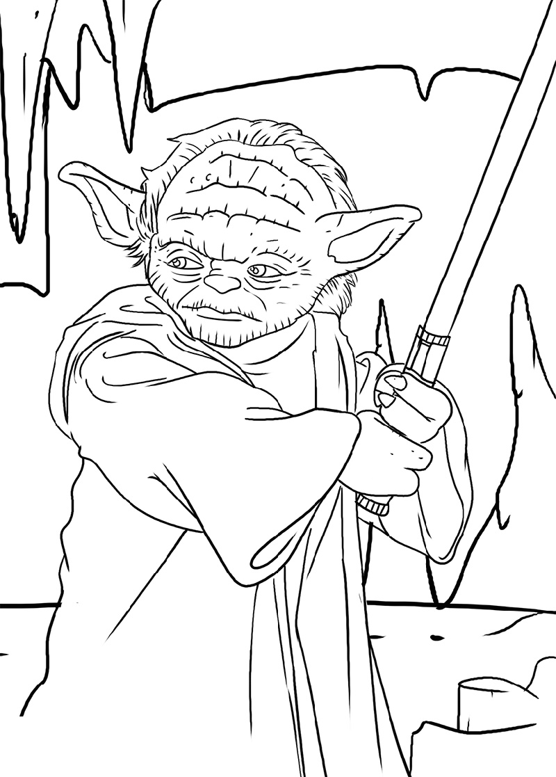 Yoda Coloring Pages Free