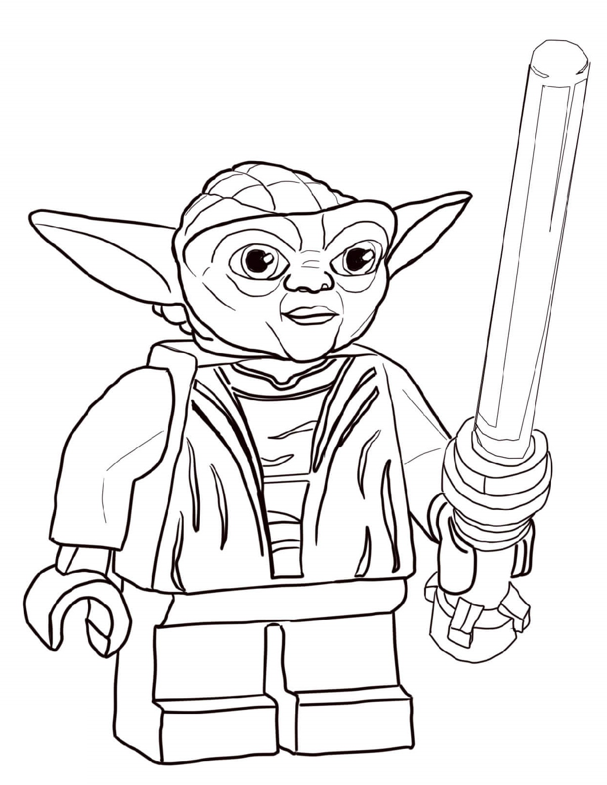 Yoda Coloring Pages Lego