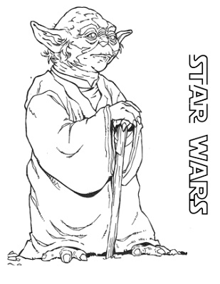 Yoda Coloring Pages Star Wars