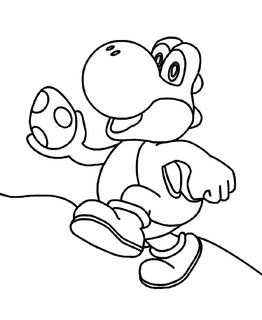 Yoshi Coloring Pages Cute