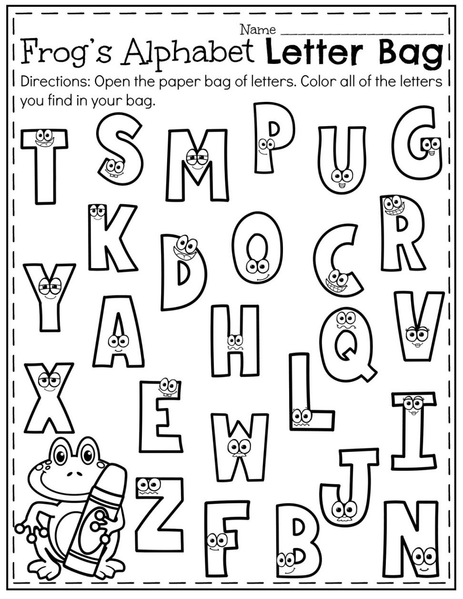 Free Printable Activity Pages For Kids Alphabet
