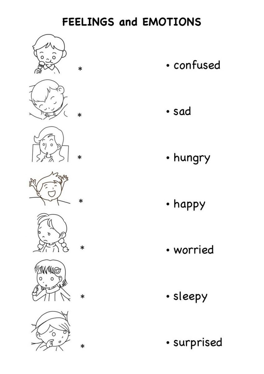 Free Printable English Worksheets Emotions