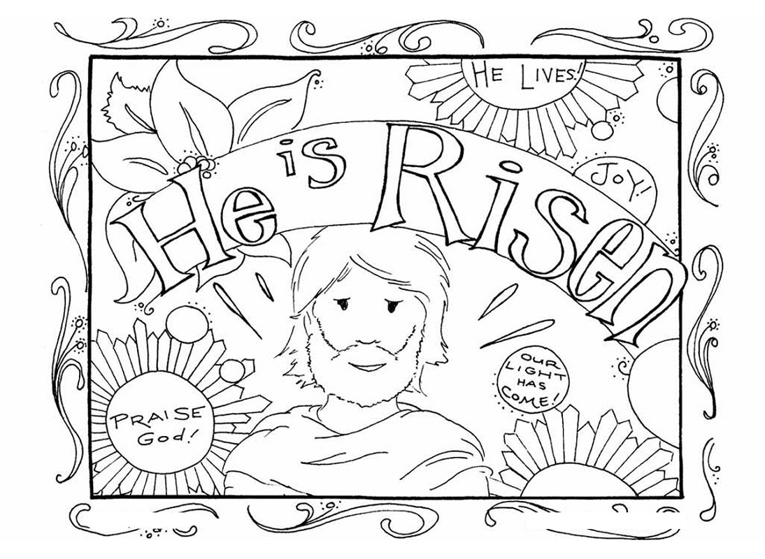 Religious Easter Coloring Pages Christian