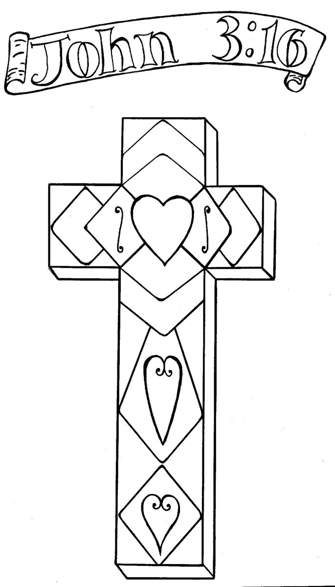 Religious Easter Coloring Pages Cross