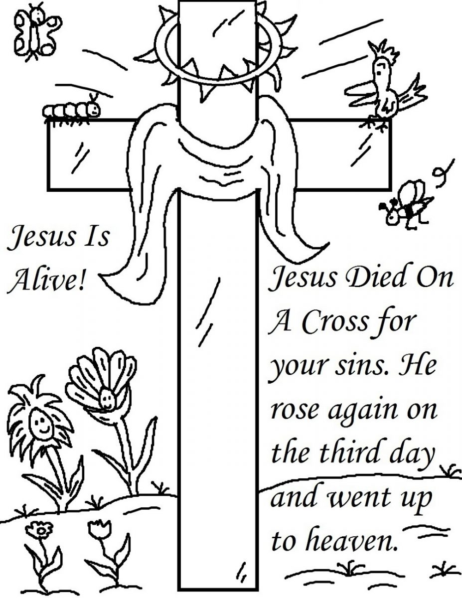 Religious Easter Coloring Pages Jesus