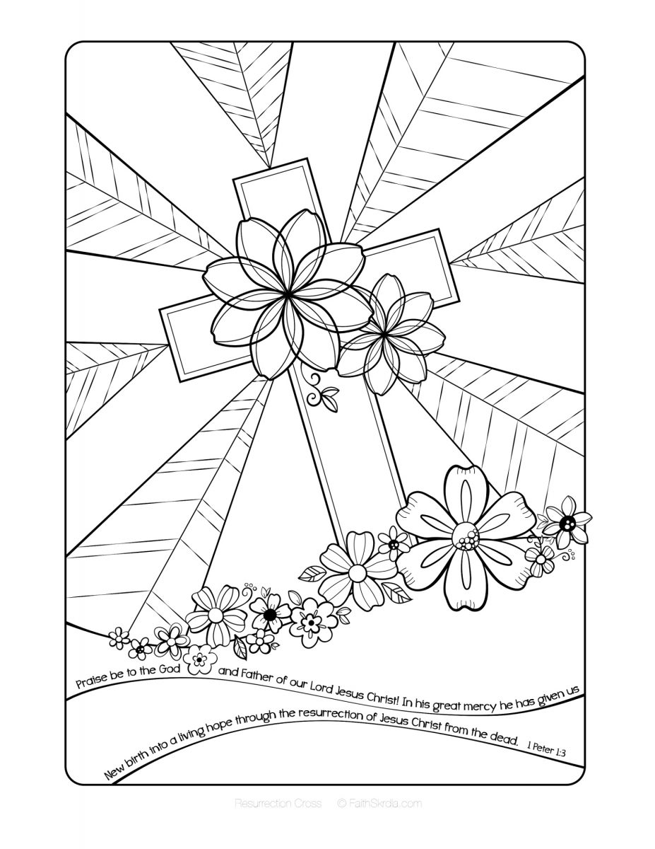 Religious Easter Coloring Pages | K5 Worksheets